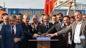 Gürsu Yenidoğan Pazar alanının temeli atıldı