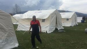 Denizlide 10 köye 600 çadır kuruldu