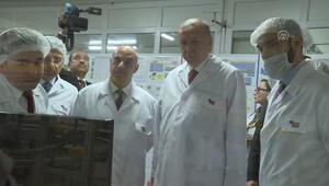 Cumhurbaşkanı Erdoğandan fabrika ziyareti