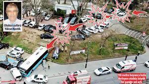 Tuhaf kazalar günü Parktan caddeye eze eze...