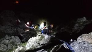 Uçurumdan düşerek ağır yaralanan genç kız hayati tehlikeyi atlattı