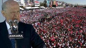 Son dakika Bahçeliden Ankara mitinginde dikkat çeken sözler