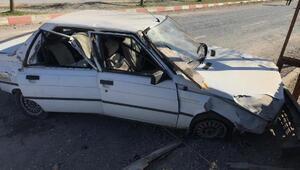 Otomobil, evin bahçe duvarına çarptı: 6 yaralı