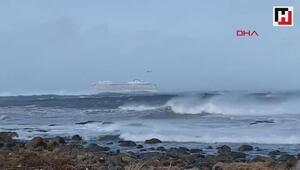 Norveçte 1300 yolcu taşıyan gemi yardım çağrısında bulundu