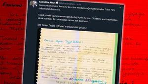 Fahrettin Altun Cumhurbaşkanı Erdoğana gelen mektubu paylaştı