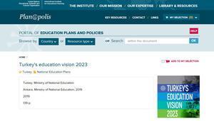 2023 Eğitim Vizyonu' dünya gündeminde