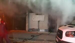 Güngörende mobilya imalathanesinde yangın