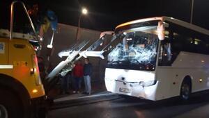 Haliç Köprüsünde 3 otobüs zincirleme kaza yaptı