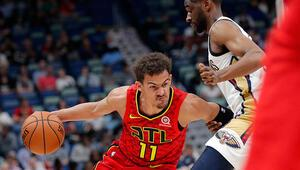 Hawksın çaylağı Young, Jordan ve Curryi geçti