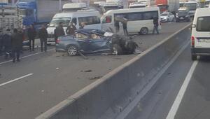 TIRa çarpan otomobilin sürücüsü öldü