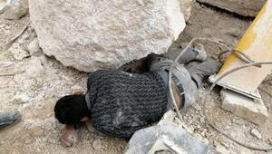 Üzerine vinç devrilen işçi ağır yaralandı