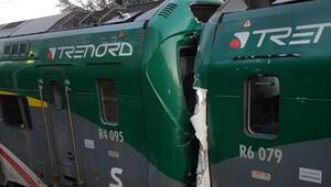 Son dakika.. İtalyada feci tren kazası