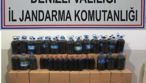 Denizlide 1263 litre kaçak şarap ele geçirildi
