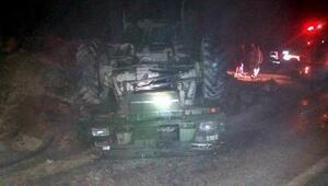 Yayladağında askeri araç devrildi: 5 yaralı
