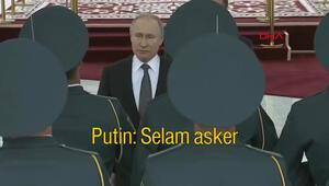 Putin, Kırgız askerlere Türkçe seslendi