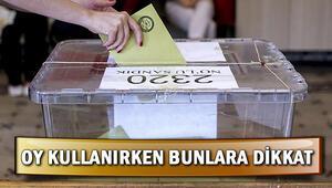 Nasıl oy kullanacağım Oy verme işlemi nasıl yapılır