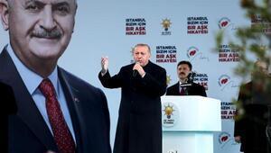 Cumhurbaşkanı Erdoğan Bahçelievlerde konuştu