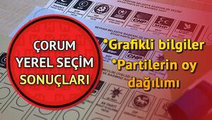 Çorum 31 Mart seçim sonuçları ve partilere göre oy oranı dağılımları