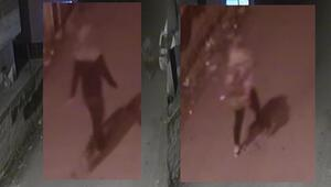 Genç kadın yürürken neye uğradığını şaşırdı