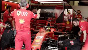 Dramatik anlar... Schumacher efsanesi Ferrariye geri döndü