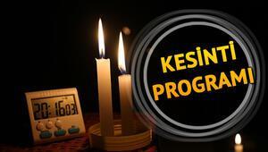 Elektrikler ne zaman gelecek 3 Nisan tarihli elektrik kesintisi programı