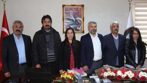 Erganide başkan seçilen HDPli Kaya göreve başladı