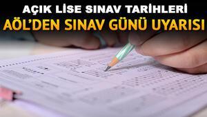 Açık lise sınav giriş belgeleri yayımlandı AÖL sınavı ne zaman yapılacak