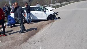 Amasya'da kamyona arkadan çarpan otomobilin sürücüsü, öldü