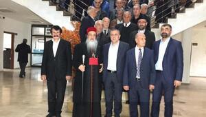 Süryani metropolitten, Midyat Belediye Başkanı seçilen Şahine ziyaret