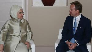 Emine Erdoğan, Dünya Ekonomik Forumu Başkanı Borge Brende ile görüştü