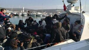 Urla açıklarında 60 kaçak göçmen yakalandı