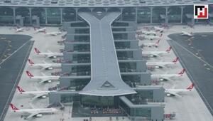 İstanbul Havalimanından çekilen son görüntüler paylaşıldı