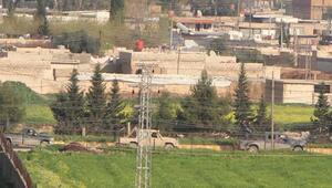 YPGli teröristlerin Suriyedeki konvoyu görüntülendi
