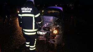 Tekirdağda iki otomobil çarpıştı: 5 yaralı