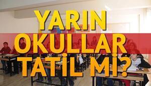 Şanlıurfada yarın okullar tatil mi Vali açıkladı