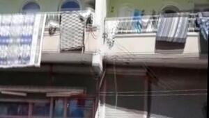 Balkondan düşen çocuğu vatandaşlar kurtardı