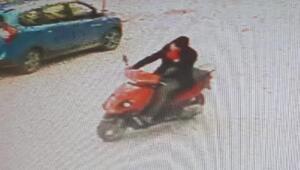 Taciz şüphelisi motosikletli bahçıvan güvenlik kamerasında