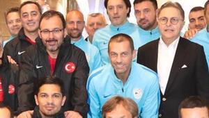 UEFA Başkanı Ceferinden Güreliye ziyaret
