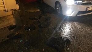Derikte yağışlar nedeniyle yollar göle döndü