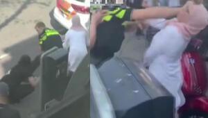 Hollandada polis şiddeti büyük tepki çekti