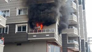 Evdeki yangında 7 kişi dumandan etkilendi