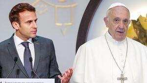 Macron Papa'yı Fransa'ya davet etti