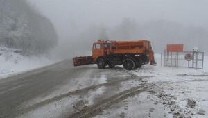 Domaniç'te kar yağışı