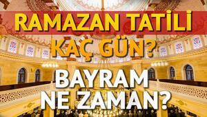 Ramazan Bayramı için 9 gün tatil kimleri kapsayacak Ramazan ne zaman başlıyor