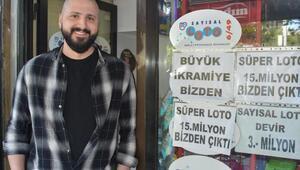 Süper Lotoda 15 milyon ikramiye kazanan kupon İzmirdeki bayide oynandı