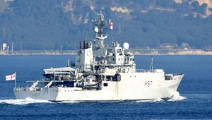 İngiliz savaş gemisi, Çanakkale Boğazından geçti