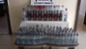 Kızılcahamamda 253 şişe sahte içki ele geçirildi