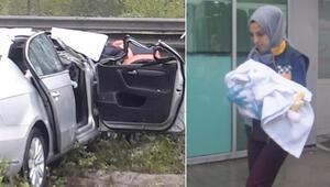 Kahreden kaza yasa boğdu Anne öldü, eşi ve 4 aylık bebeği...