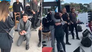 İzmirde şaşırtan evlenme teklifi