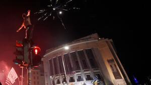 Komşu alev alev yandı Yunanistanda...